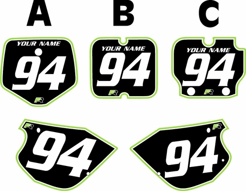 1991-1997 Kawasaki KX 80 Custom Pre-Printed Background Black - Green Pro Pinstripe by Factory Ride