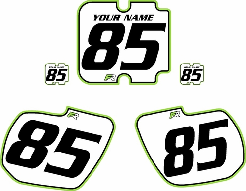 1985-1986 Kawasaki KX500 Custom Pre-Printed Background White - Green Pro Pinstripe by Factory Ride