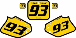 1992-1994 Honda CR250 Pre-Printed Backgrounds Yellow - Black Bold Pinstripe by FactoryRide