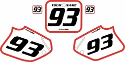 1992-1994 Honda CR250 Pre-Printed Backgrounds White - Red Bold Pinstripe by FactoryRide