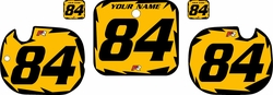 1984 Honda CR125 Pre-Printed Backgrounds Yellow - Black Shock Series by FactoryRide
