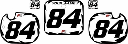 1984 Honda CR125 White Pre-Printed Backgrounds - Black Shock Series by Factory Ride