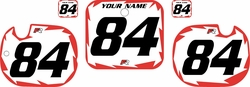 1984 Honda CR125 White Pre-Printed Background - Red Shock Series by FactoryRide