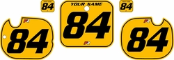 1984 Honda CR125 Pre-Printed Backgrounds Yellow - Black Pinstripe by FactoryRide