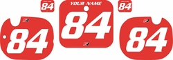 1984 Honda CR125 Pre-Printed Backgrounds Red - White Numbers by FactoryRide