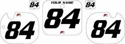 1984 Honda CR125 White Pre-Printed Backgrounds - Black Numbers by Factory Ride