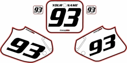 1992-1994 Honda CR250 Pre-Printed Backgrounds White - Red Pro Pinstripe by FactoryRide
