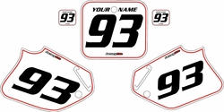 1992-1994 Honda CR250 Pre-Printed Backgrounds White - Red Pinstripe by FactoryRide