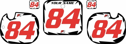1984 Honda CR125 Pre-Printed Backgrounds White - Black Shock - Red Numbers by FactoryRide