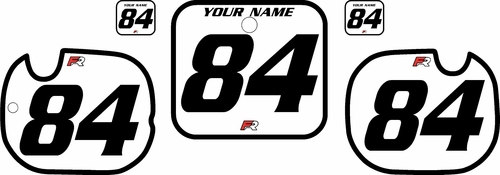 1984 Honda CR125 White Pre-Printed Backgrounds - Black Bold Pinstripe by Factory Ride
