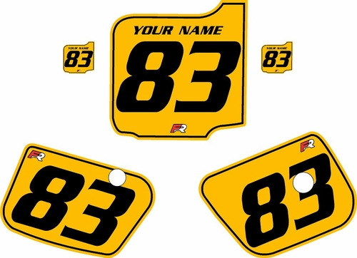 1983 Husqvarna CR125 Custom Pre-Printed Background Yellow - Black Pinstripe by Factory Ride
