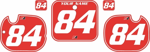 1984 Honda CR125 Pre-Printed Backgrounds Red - White Pinstripe by FactoryRide