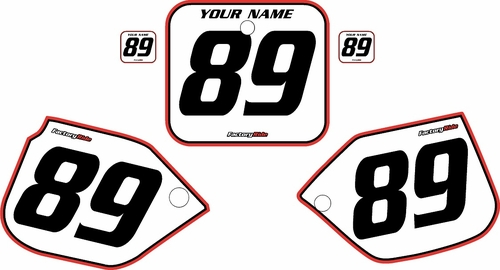 1989-1990 Honda CR500 Pre-Printed Backgrounds White - Red Pro Pinstripe by FactoryRide
