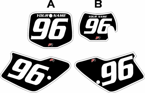1996-2001 GAS GAS EC125 Custom Pre-Printed Background Black - White Bold Pinstripe by Factory Ride