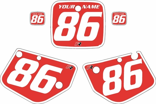 1986-1988 Yamaha YZ125 Custom Pre-Printed Red Background - White Bold Pinstripe by Factory Ride