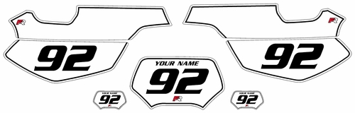 1992-2005 Yamaha TT600 S-E White Pre-Printed Backgrounds - Black Pinstripe by Factory Ride