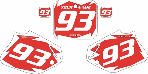 1992-1994 Honda CR250 Pre-Printed Backgrounds Red - White Shock Series by FactoryRide
