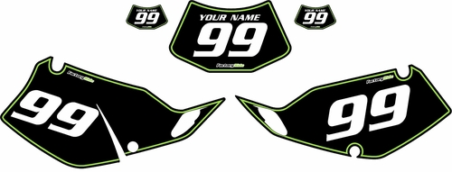 1994-1996 Kawasaki KLX250 Black Pre-Printed Backgrounds - Green Pinstripe by FactoryRide