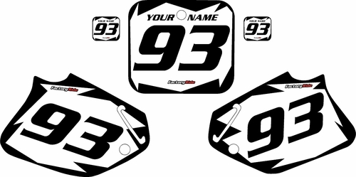 1992-1994 Honda CR250 Custom White Pre-Printed Background - Black Shock Series by Factory Ride