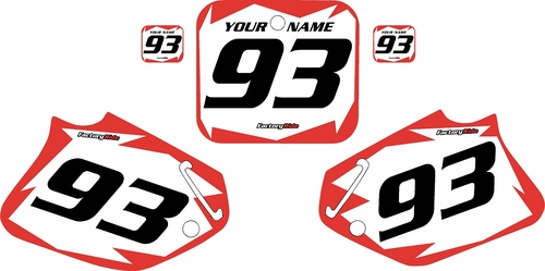 1992-1994 Honda CR250 Pre-Printed Backgrounds White - Red Shock Series by FactoryRide