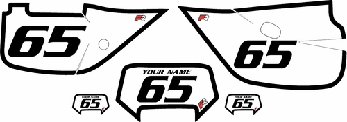 1992-2009 Honda XR650L White Pre-Printed Backgrounds - Black Bold Pinstripe by FactoryRide