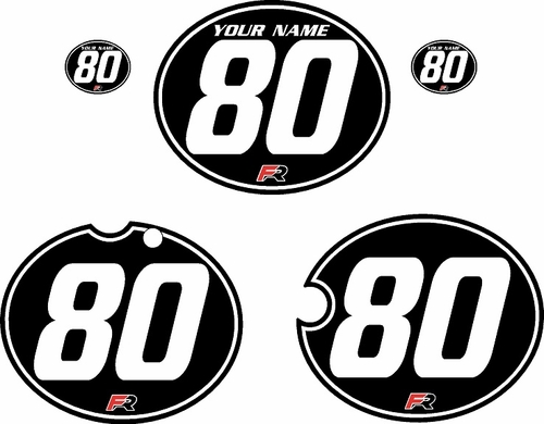 1980-1981 Yamaha YZ250 Custom Pre-Printed Black Background - White Pinstripe by Factory Ride