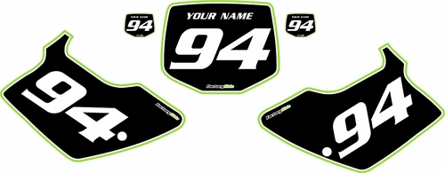 1994-1998 Kawasaki KX250 Custom Pre-Printed Background Black - Green Pro Pinstripe by Factory Ride