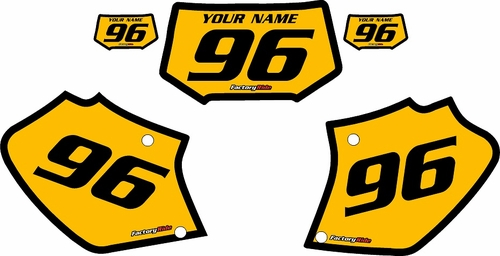 Honda XR400 1996-2004 Pre-Printed Backgrounds Yellow - Black Bold Pinstripe by FactoryRide