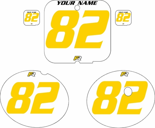1981 Suzuki RM250 White Pre-Printed Backgrounds - Yellow Numbers by FactoryRide