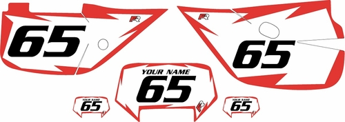 1992-2009 Honda XR650L Custom White Pre-Printed Background - Red Shock Series by Factory Ride