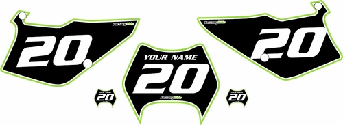 1995-2006 Kawasaki KDX 200 Custom Pre-Printed Background Black - Green Pro Pinstripe by Factory Ride