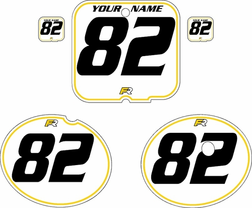 1981 Suzuki RM250 White Pre-Printed Backgrounds - Yellow Pinstripe by FactoryRide