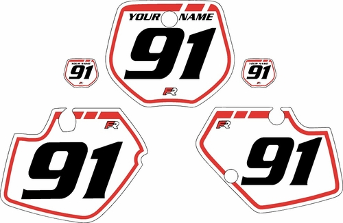 1991-1992 Yamaha YZ125 Custom Pre-Printed Background White - Red Retro by Factory Ride