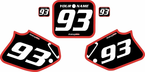 1992-1994 Honda CR250 Pre-Printed Backgrounds Black - Red Bold Pinstripe by FactoryRide