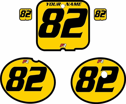 1981 Suzuki RM250 Yellow Pre-Printed Backgrounds - Black Bold Pinstripe by FactoryRide