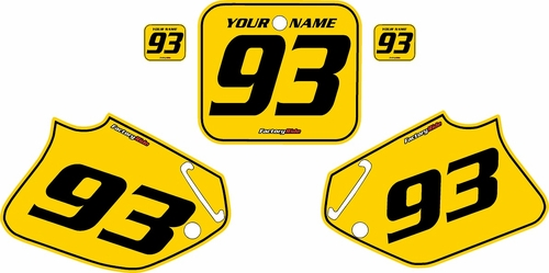 1992-1994 Honda CR250 Pre-Printed Backgrounds Yellow - Black Pinstripe by FactoryRide