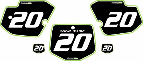 1996-2004 Kawasaki KX500 Custom Pre-Printed Background Black - Green Pro Pinstripe by Factory Ride