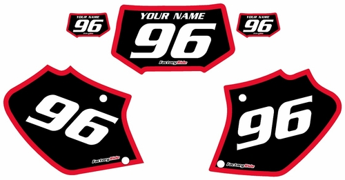 1996-2004 Honda XR400 Custom Black Pre-Printed Background - Red Bold Pinstripe by Factory Ride