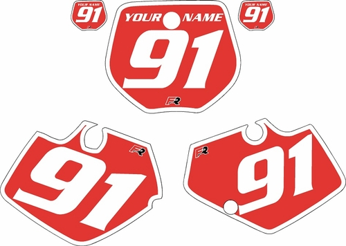 1991-1992 Yamaha YZ125 Custom Pre-Printed Red Background - White Bold Pinstripe by Factory Ride