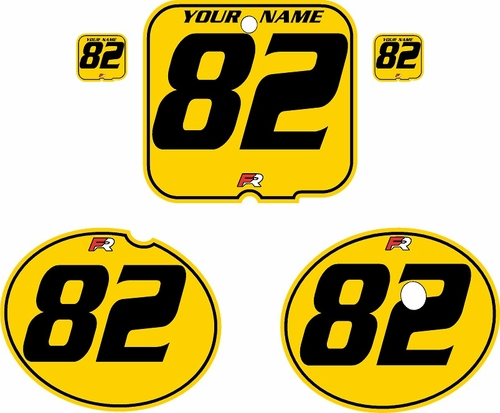 1981 Suzuki RM250 Yellow Pre-Printed Backgrounds - Black Pinstripe by FactoryRide