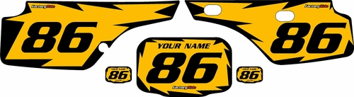 1986-1995 Honda XR250 Pre-Printed Backgrounds Yellow - Black Shock Series by FactoryRide