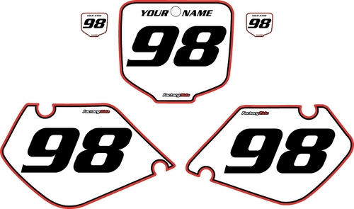 1998-1999 Honda CR125 Pre-Printed Backgrounds White - Red Pro Pinstripe by FactoryRide
