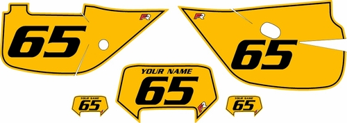 1992-1999 Honda XR650 Pre-Printed Backgrounds Yellow - Black Pinstripe by FactoryRide