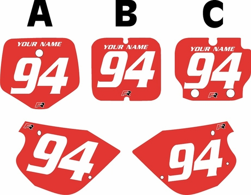 1991-1997 Kawasaki KX 80 Custom Pre-Printed Red Background - White Numbers by Factory Ride