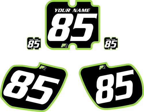 1985-1986 Kawasaki KX500 Custom Pre-Printed Background Black - Green Bold Pinstripe by Factory Ride