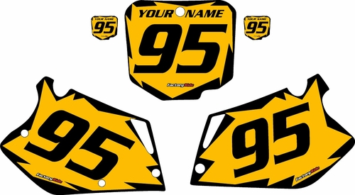 1995-1997 Honda CR125 Pre-Printed Backgrounds Yellow - Black Shock Series by FactoryRide