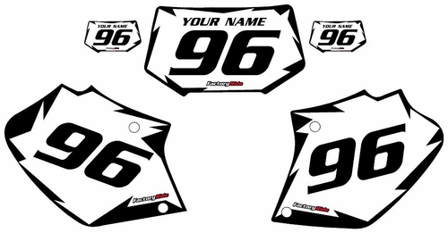 1996-2004 Honda XR400 White Pre-Printed Background - Black Shock Series by Factory Ride