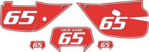 1992-2009 Honda XR650L Pre-Printed Backgrounds Red - White Pinstripe by Factory Ride