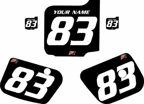 1983 Husqvarna CR125 Custom Pre-Printed Background Black - White Numbers by Factory Ride