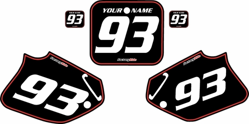 1992-1994 Honda CR250 Pre-Printed Backgrounds Black - Red Pinstripe by FactoryRide